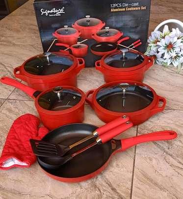 12 pcs Die Cast Cookware sets image 1