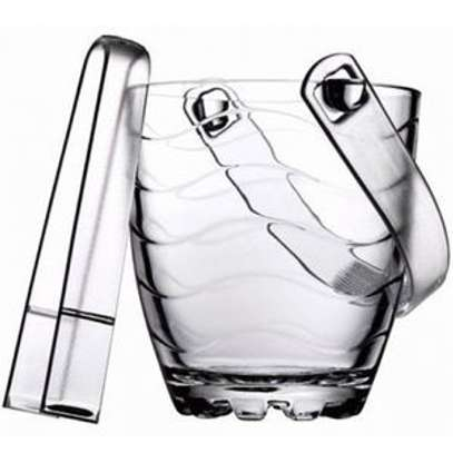 Ice Bucket With Tong - Clear image 1