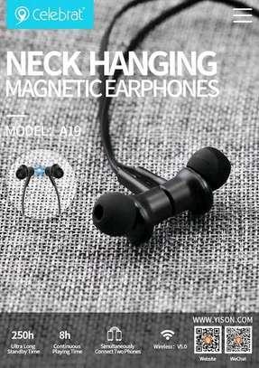 Neck hanging magnetic earphones image 1