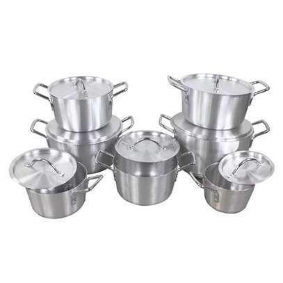 14Pcs Heavy Stainles Aluminium Cooking Pot Sufuria image 3