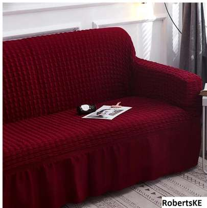 durable maroon turkish sofa cover 5 seater image 2