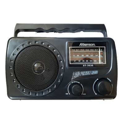 Aitkenson ST-3030 - Portable FM/AM/SW 3 Band Radio image 1