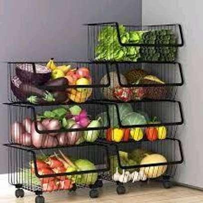 4layer Stainless steel dish rack/vegetable rack/4layer fruit rack image 1