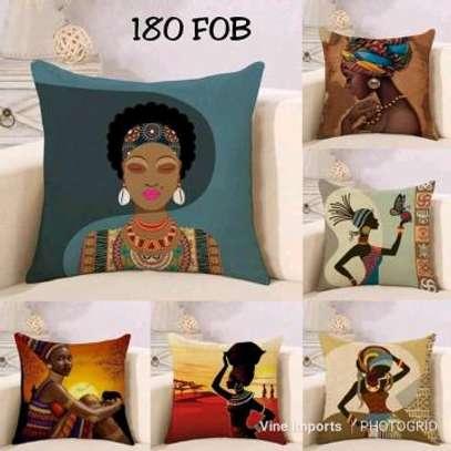 African decorative throw pillows image 1