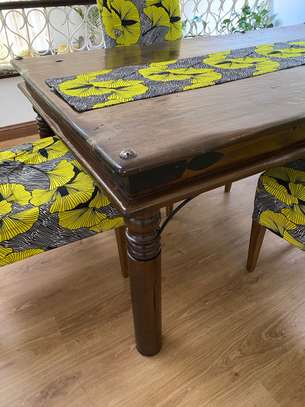 Beautiful solid wood dining table image 2