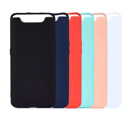 Silicone case with Soft Touch for Samsung A80 image 1