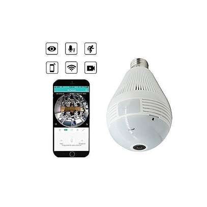 Panorama WIFI Wireless CCTV Bulb Camera image 1
