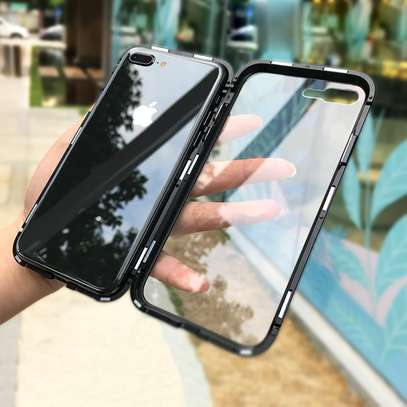 Magnetic Double-sided 360 Full Protection Glass Case for iPhone 7/8 image 2