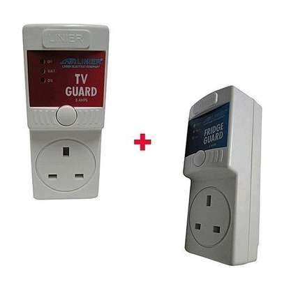 Great Quality Linier Fridge Guard Voltage stabilizer with free tv guard image 1