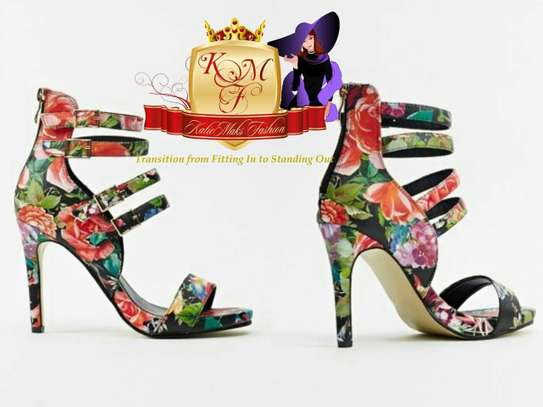Heeled Floral Print Heels From UK
