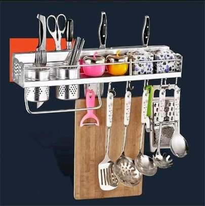 Wall mounted kitchen shelf image 1