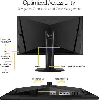"""Asus TUF Gaming VG27AQ 27"""" Monitor, 1440P WQHD (2560 x 1440), IPS, 165Hz (Supports 144Hz), G-SYNC Compatible, 1ms, Extreme Low Motion Blur Sync, Eye Care, DisplayPort HDMI image 5"""