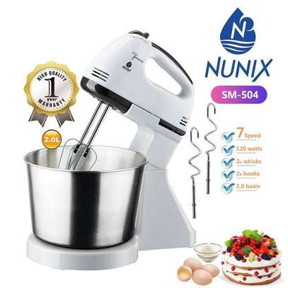 Nunix 7 Speed Stand Mixer With Bowl image 1