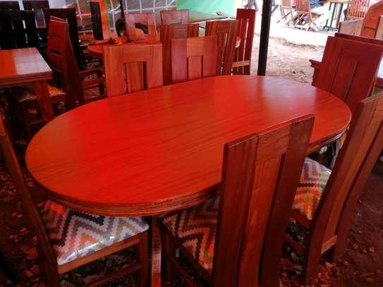 Oval mahogany dining table image 3