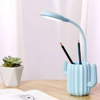 Cactus design rechargeable night table lamp image 1