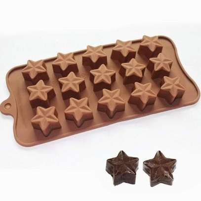 15 Chocolate Star Silicone Candy Baking Mould image 1