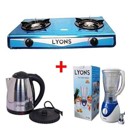 Bundle of cooker,blender and lyons kettle image 1