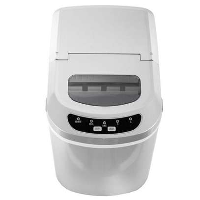 Portable Electric Ice Maker Machine Capacity Clear Lip Top Countertop up to 26lbs per Top Load (2) Cube Sizes, Silver image 2