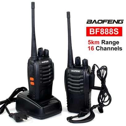 Two way Baofeng portable walkie talkie image 1