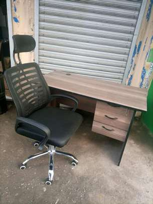 Office desk and chair 1.2m image 1