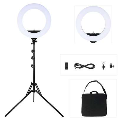 LED 18''  Ring Light with Light Stand, Dimmable & Color Temperature image 3