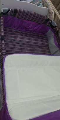 Baby Playpen Baby Crib Baby Bed with Changing Table - Purple image 3