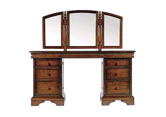 Majestic Rustic Wooden Vanity Dressing Table image 1