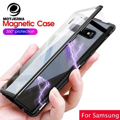 Magnetic Luxury Cases For Samsung S10 S10e S10 Plus With Tempered Back Glass image 2