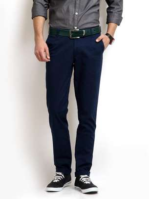 Blue Men's Khaki Pants