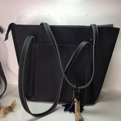 Grey and Black PU Leather image 1