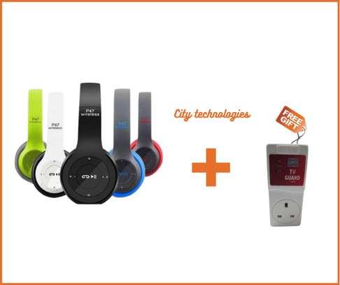 P47 Bluetooth 5.0 Headphone + tv guard image 1