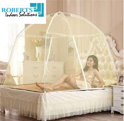 cream yellow tent net image 1