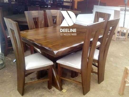 6 Seater Solid Mahogany Wood Sets image 6