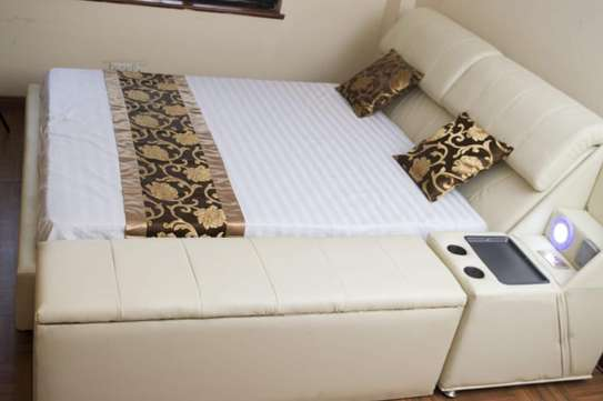 Palais Leather King Size Bed