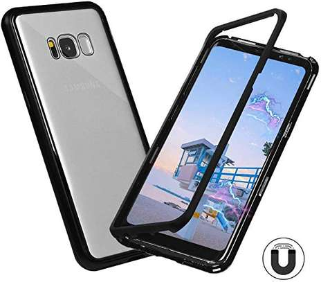 Magnetic Luxury Cases For Samsung S8 S8 Plus With Tempered Back Glass image 1
