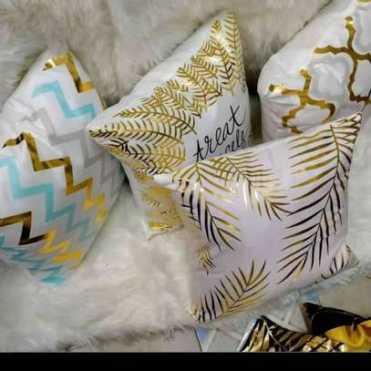 Decorative Gold Throw Pillow Covers image 1