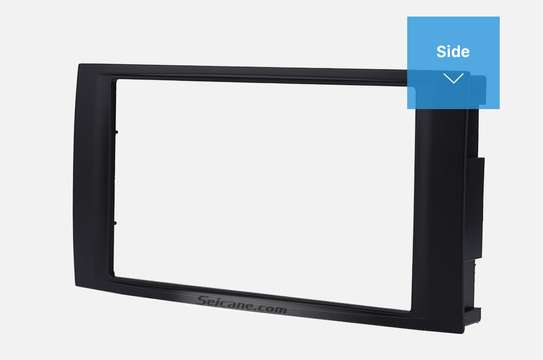 Double Din Car Radio Fascia For 2009+ VW Touareg. image 1
