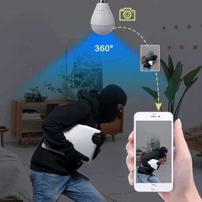 1080P WiFi Camera Light Bulb Panoramic Camera with IR Motion Detection, Night Vision, Two-Way Audio, Cloud Service for Home, Office, Baby, Pet Monitor image 3