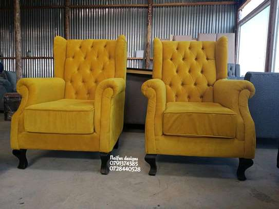 Modern yellow single seater sofas for sale in Nairobi Kenya/one seater sofas/latest chesterfield sofa designs in kenya image 3