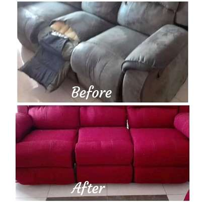 Repair/Reupholstery of Recliner sofas(Imported) image 2