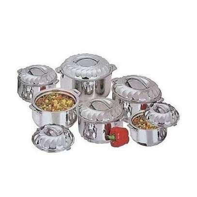 Elegant 6Pcs Stainless Steel Hot Pots image 2