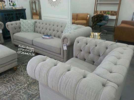 Five seater sofas for sale in Nairobi Kenya/one seater sofa/three seater sofa/chesterfield sofas/modern beige sofas for sale in Nairobi Kenya image 1