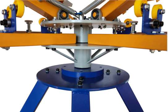 new 4 color 4 station screen printing machine image 1
