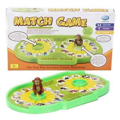 Kids Children Educational Monkey Match Game Toy image 1