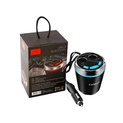 Earldom ET-M15 Smart Current Demitasse USB and Cigarette Car Charger With USB/Bluetooth Player and FM Transmitter image 5