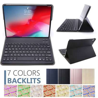Bluetooth Keyboard Case For iPad Pro 11 inch 2018 Removable Wireless Keyboard PU Leather Tablet Stand Cove image 3