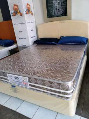 5 by 6 (Queen Size) Complete Bed set with 10inch thick Spring Mattress
