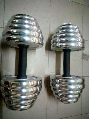 40Kg Electroplated Dumbells image 3