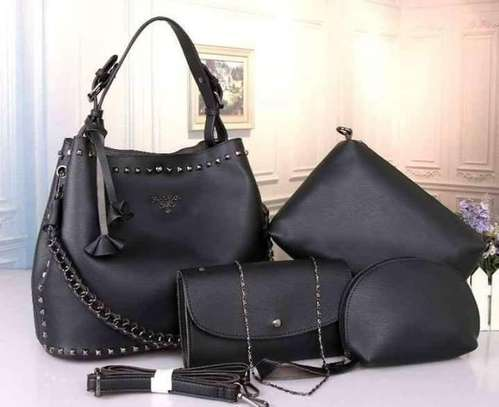 4 in 1 handbags black
