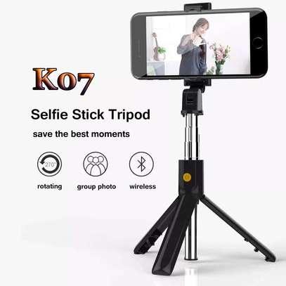 k07 Foldable bluetooth selfie stick tripod 70cm image 2